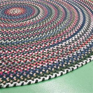 Colonial Mills Chestnut Knoll 8-ft x 11-ft Handcrafted Baltic Blue Oval Area Rug