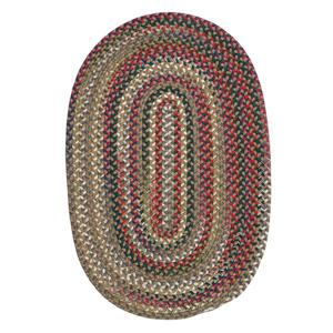Colonial Mills Chestnut Knoll 7-ft x 9-ft Handcrafted Straw Beige Oval Indoor Area Rug