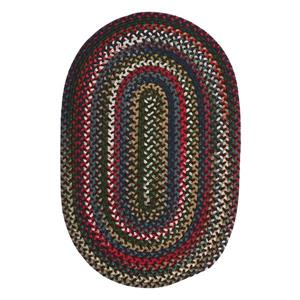 Colonial Mills Chestnut Knoll 7-ft x 9-ft Handcrafted Saddle Brown Oval Indoor Area Rug