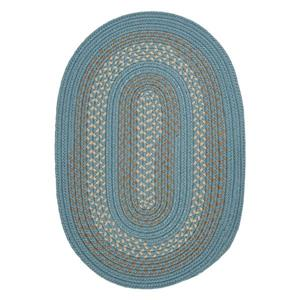 Colonial Mills Georgetown 4-ft x 6-ft Federal Blue Oval Indoor/Outdoor Area Rug