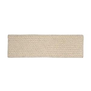 Colonial Mills Natural Wood Houndstooth 8-in x 28-in Cream Rectangular Stair Tread Mat - 13/pack