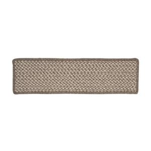 Colonial Mills Natural Wood Houndstooth 8-in x 28-in Latte Rectangular Stair Tread Mat - 13/pack