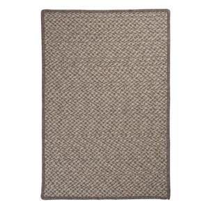 Colonial Mills Natural Wool Houndstooth 2-ft x 10-ft Latte Indoor Handcrafted Runner