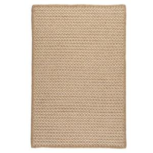 Colonial Mills Natural Wool Houndstooth 3-ft x 5-ft  Tea Indoor Handcrafted Throw Rug