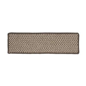Colonial Mills Natural Wood Houndstooth 8-in x 28-in Expresso Rectangular Stair Tread Mat - 13/pack