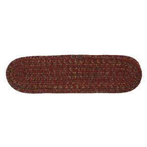 Colonial Mills Hawyard 8-in x 28-in Red Berry Oval Stair Tread Mat - 13/pack