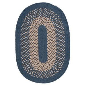 Colonial Mills Jackson 4-ft x 6-ft Oval Federal Blue Indoor Area Rug