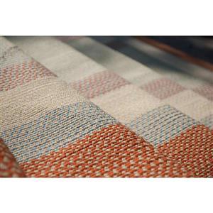 Colonial Mills Montego 4-ft x 4-ft Tangerine Indoor/Outdoor Handcrafted Area Rug