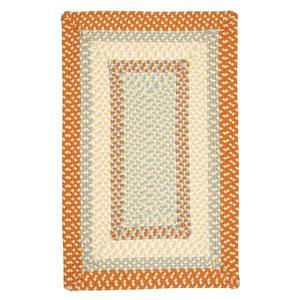 Colonial Mills Montego 5-ft x 8-ft Tangerine Indoor/Outdoor Handcrafted Area Rug