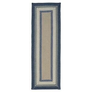 Colonial Mills Mentrgo 2-ft x 10-ft Blue Burst Indoor/Outdoor Handcrafted Runner