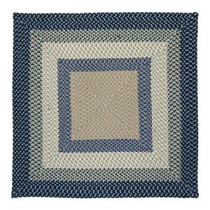 Colonial Mills Mentrgo 4-ft x 4-ft Blue Burst Indoor/Outdoor Handcrafted Area Rug