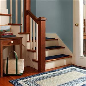 Colonial Mills Montego 7-ft x 9-ft Blue Burst Indoor/Outdoor Handcrafted Area Rug