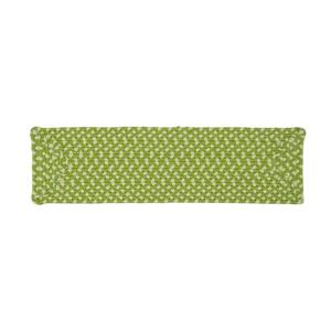 Colonial Mills 8-in x 28-in Montego Green Rectangular Stair Tread Mat - 13/pack