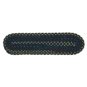 Colonial Mills Midnight 8-in x 28-in Indigo Oval Stair Tread Mat - 13/pack