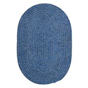 Colonial Mills Spring Meadow 5-ft x 8-ft Oval Indoor/Outdoor Petal Blue Area Rug