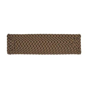 Colonial Mills Tiburon 8-in x 28-in Spruce Green  Rectanglular Stair Tread Mat - 13/pack