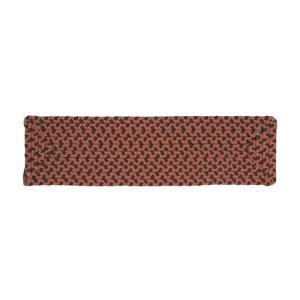Colonial Mills Tiburon 8-in x 28-in Rusted Rose Rectanglular Stair Tread Mat - 13/pack
