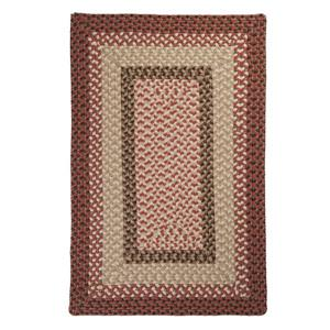 Colonial Mills Tiburon 4-ft x 4-ft Square Indoor/Outdoor Rusted Rose Area Rug