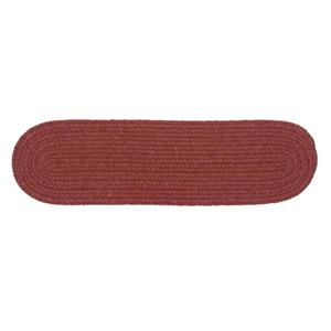 Colonial Mills Bristol 8-in x 28-in Rosewood Oval Stair Tread Mat - 13/pack