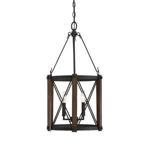 Quoizel Baron 15.25-in Polished Nickel Traditional Round Cage Pendant Lighting