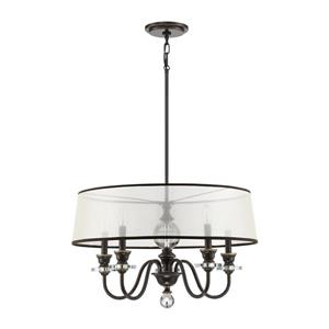 Quoizel Ceremony 25-in Polished Chrome Traditional Drum Pendant Lighting