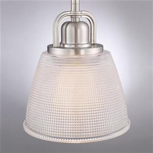 Quoizel Dublin 6.5-in Vintage Bronze Industrial Bell Mini Pendant Lighting