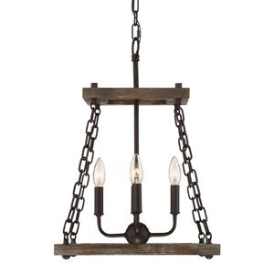 Quoizel Dwelling 15-in Western Bronze Rustic 4-Light Pendant Lighting