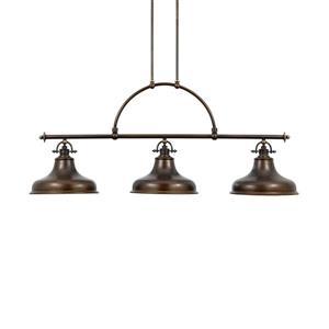 Quoizel Emery 13-in W 3-Light Palladian Bronze Vintage Kitchen Island Light with Metal Shade