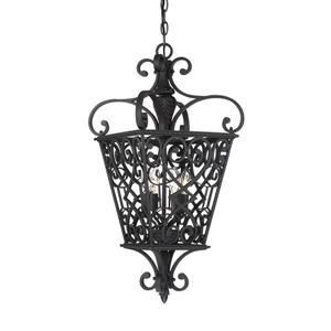 Quoizel Fort Quinn 18-in Vintage Bronze Traditional Pendant Lighting