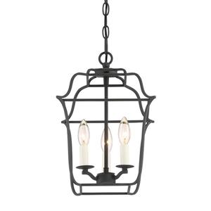 Quoizel Gallery 10-in Palladian Bronze Traditional Cage Pendant Lighting