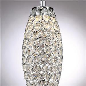 Quoizel Platinum Collection Infinity 4-in Polished Chrome Glamorous LED Mini Pendant Lighting