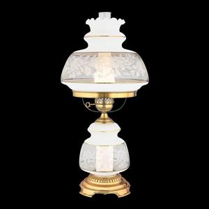 2-Light Satin Lace Accent Table Lamp