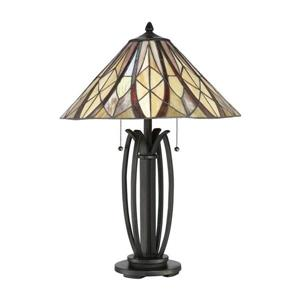 Quoizel Victory 22-in Russet Tiffany-Style Shade -Light Table Lamp