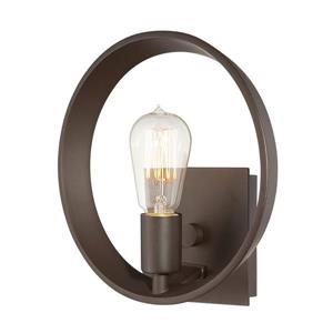 Quoizel Uptown Theatre Row 10-in Bronze 1 Light Arm Wall Sconce