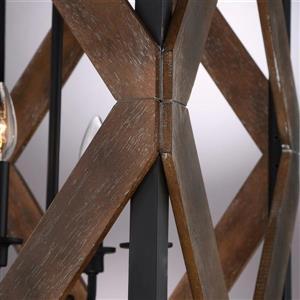 Quoizel Veranda Mottled Silver Traditional Drum Pendant