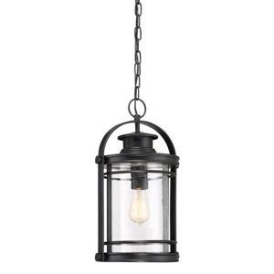 Quoizel Booker 10.5-in Mystic Black Traditional Lantern Pendant Lighting