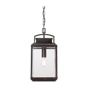 Quoizel Byron 7-in Imperial Bronze Mission Style Lantern Pendant Lighting