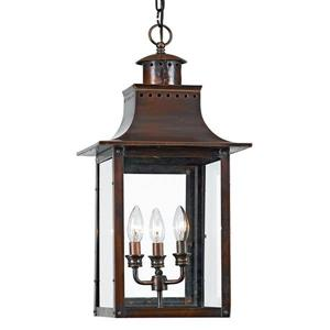 Quoizel Chalmers 12-in Aged Copper Traditional Lantern Pendant Lighting