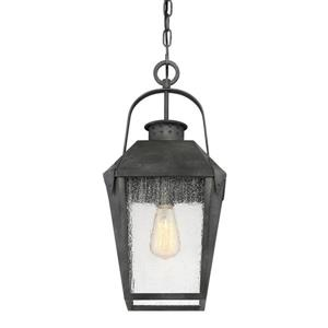 Quoizel Carriage 10-in Mottled Black Traditional Lantern Pendant Lighting