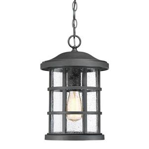 Quoizel Crusade 10-in Earth Black Transitional Lantern Pendant Lighting