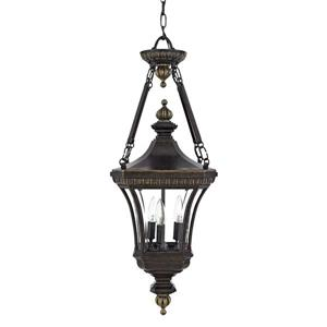Quoizel Devon 11-in Imperial Bronze Clear Glass Traditional Lantern Pendant Lighting