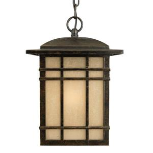 Quoizel Hillcrest 9-in Imperial Bronze Mission Style Lantern Pendant Lighting