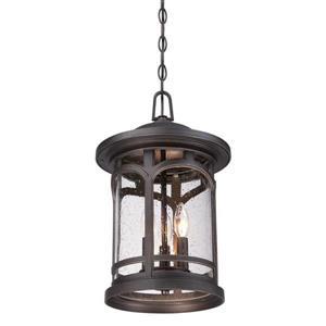Quoizel Coastal Armour 11-in Palladian Bronze Traditional Lantern Pendant Lighting
