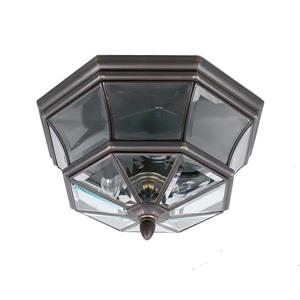 Newbury 3-Light Flush Outdoor Close to Ceiling Light