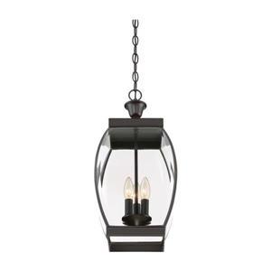 Quoizel Oasis Medici Bronze Transitional Clear Glass Lantern Pendant