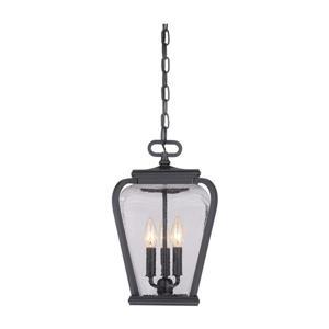 Quoizel Province Mystic Black Transitional Clear Glass Lantern Pendant