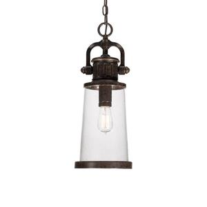 Quoizel Steadman Imperial Bronze Traditional Clear Glass Lantern Pendant