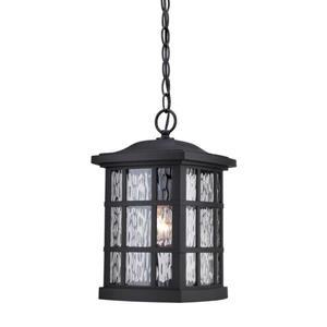 Quoizel Coastal Armour 9.5-in Mystic Black Traditional Lantern Pendant Lighting