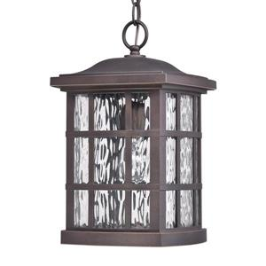 Quoizel Coastal Armour 9.5-in Palladian Bronze Traditional Lantern Pendant Lighting