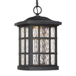 Quoizel Coastal Armour 9.5-in Mystic Black Traditional Lantern LED Pendant Lighting